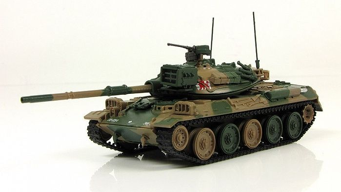 """1:72 (74式戦車) """"Type 74"""" Japanese tank 1975 main tank Fabbri model & mag №10 #GeFabbri"""