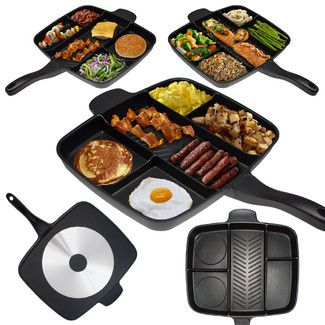 "Found it at AllModern - Master Pan Non-Stick Divided Meal Skillet 15"" Grill Fry Oven/Dishwasher Safe"