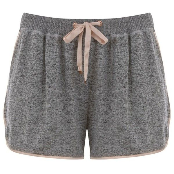 Hygge by Mint Velvet Brushed Jersey Pyjama Shorts (561.715 IDR) ❤ liked on Polyvore featuring intimates, sleepwear, pajamas and mint velvet