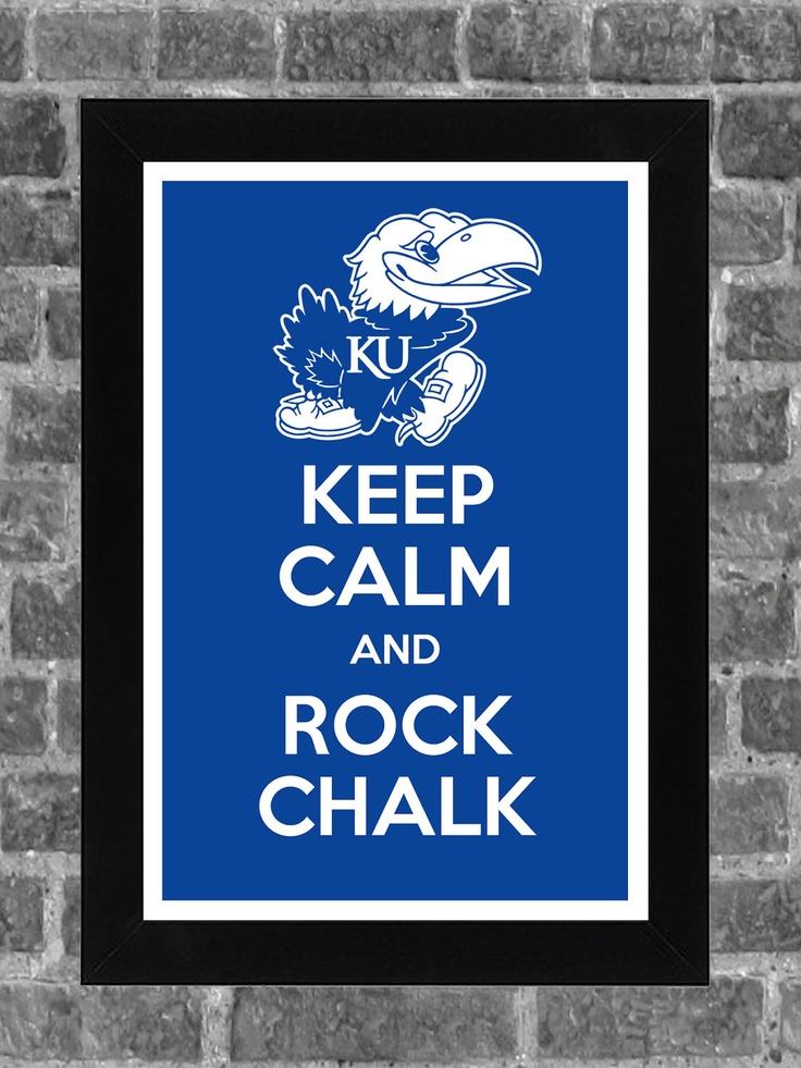 Keep Calm Kansas Jayhawks NCAA Print Art 11x17. $14.99, via Etsy.