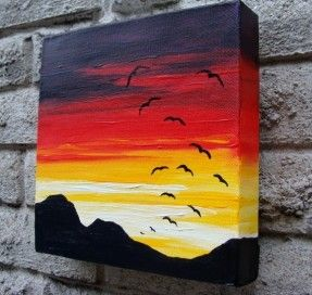 A Sunset Soar Original Acrylic Painting by LisahPilchak on Etsy, $49.00
