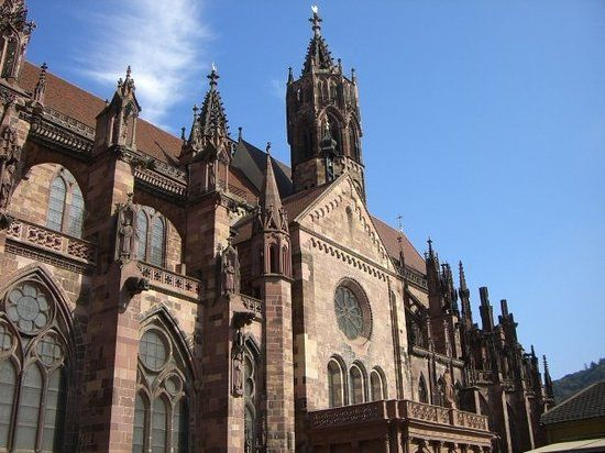 Freiburg im Breisgau, Germany. -****Not just great architecture they also are the home of the Münsterwürste - Brandon