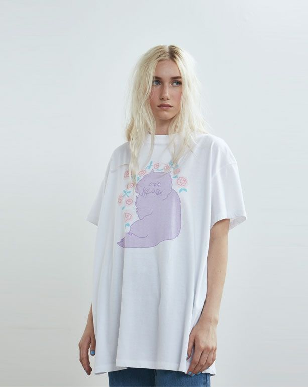 Lazy Oaf Floral Cat T-shirt