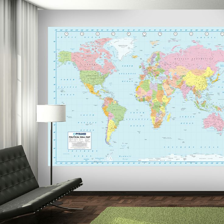 Mejores 83 imgenes de wall murals en pinterest papel de pared de this world map mural is great for geography lovers and for those who travel its gumiabroncs Images