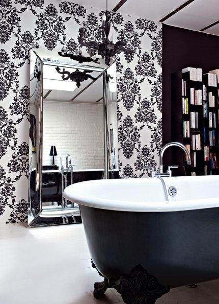 salle de bain noire et blanche nos plus belles inspirations baroque and decoration. Black Bedroom Furniture Sets. Home Design Ideas
