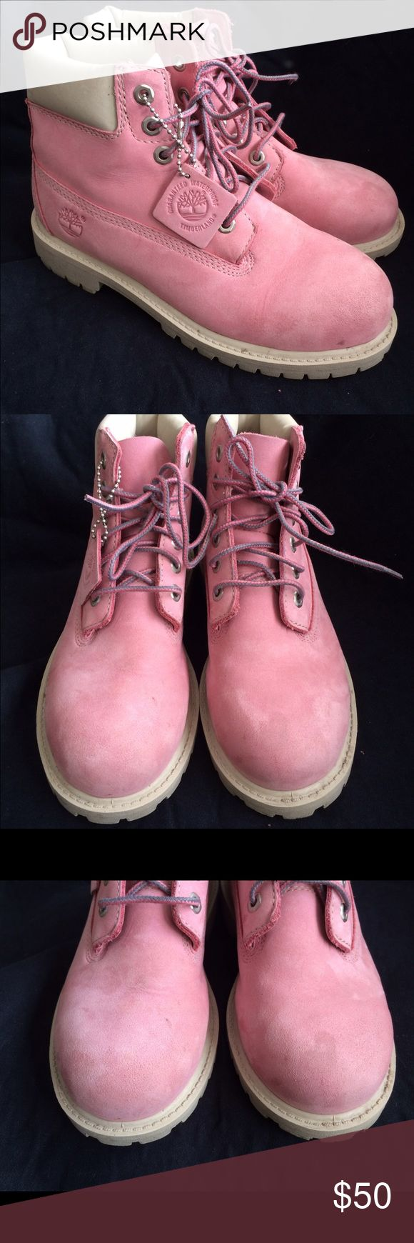 Girl's Timberland Boots Authentic Girl's Pink Timberland Boots. Light wear. Very Good Condition! Timberland Shoes Boots