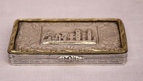 1873 GOLD & SILVER BOX GIVEN FROM PRIME MINISTER DISRAELI TO LORD DERBY