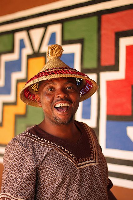 Man at the Ndebele village in South Africa