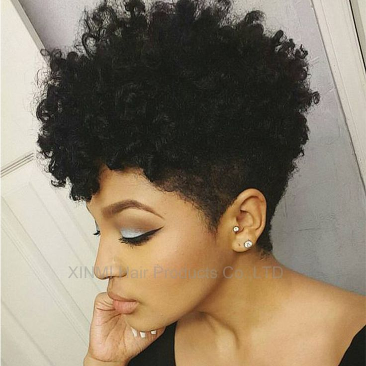 Nieuwste kinky krullend synthetische pruik Zwart haar Goedkope Afro kinky krullend pruik voor zwarte vrouwen Sassy Afro-amerikaanse korte krullend pruiken
