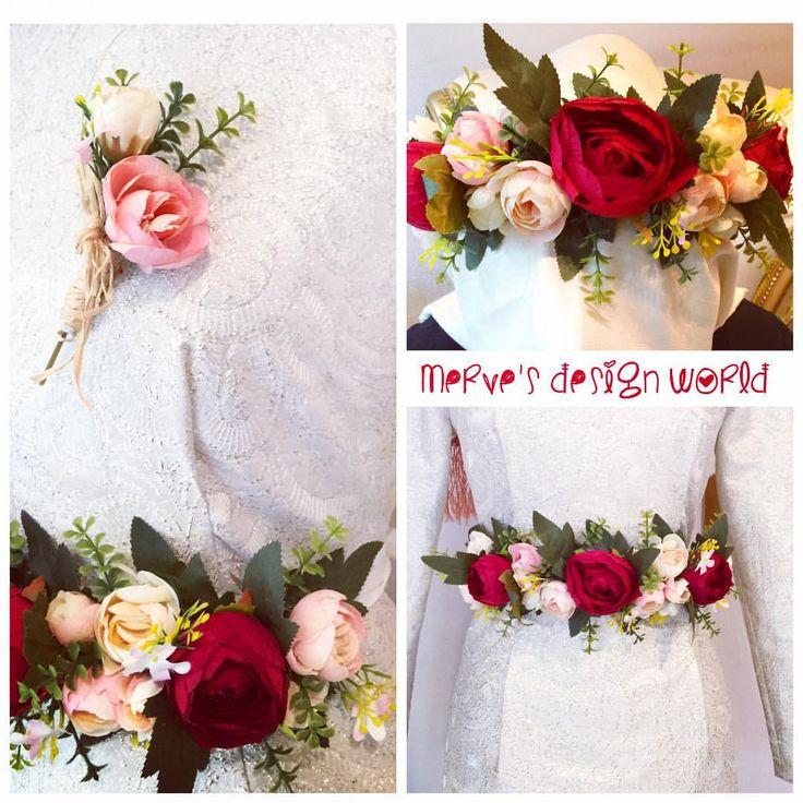 Taç ve Kemer olarak da kullanabilirsiniz ❤️ Gelin Buketi&Damat Yaka Çiçeği  TANITIM AMAÇLI İNDİRİMLİ FİYATTIR isteğe göre kemer ve taç yapılır  Kişiye özel çalışılır ☺️ sipariş ve fiyat için Dm'den mesaj atabilirsiniz #gelin #damat #çicek #buket #lale #gül #orkide #papatya #gelinçiçeği #wedding #uygunfiyat #kişiyeözel #düğün #nişan #söz #tasarım #fashion #moda #style #hijab #hijabi #vintage