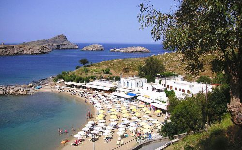 Lindos Beach on the Island of Rhodes