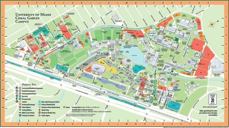 University of Miami campus map