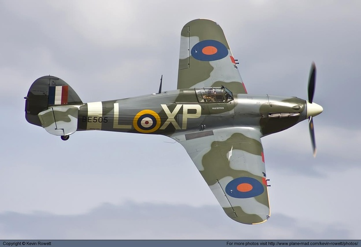 A great shot of a Hawker Hurricane Mk2B G-HHII at RAF Waddington.