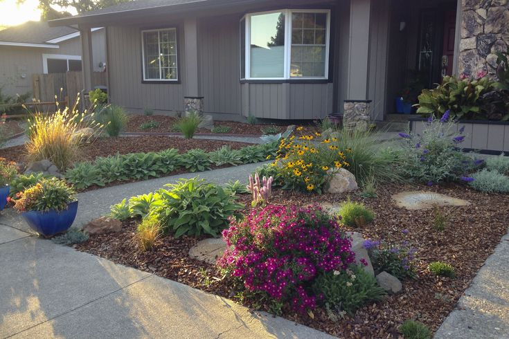 26 best drought tolerant yard images on pinterest front for Drought tolerant yard