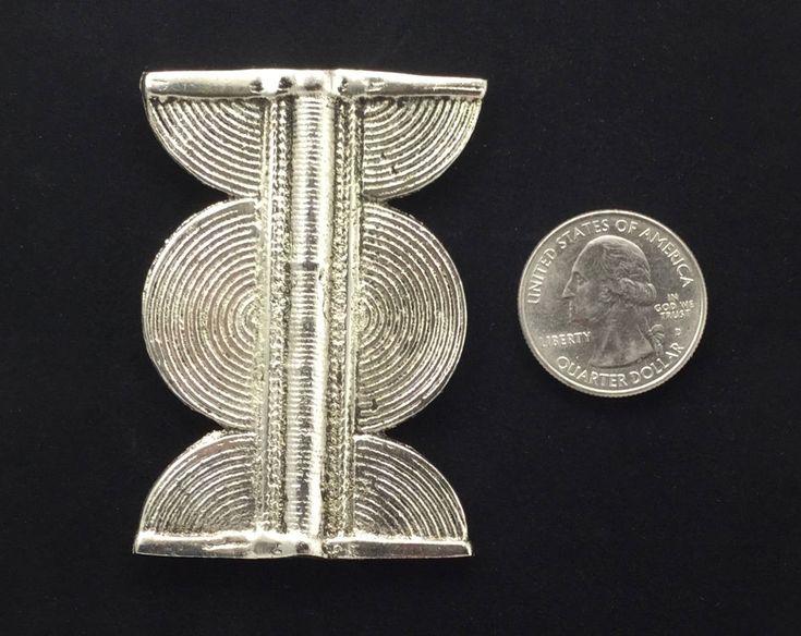 Beads African Brass Round Symbol Bead 56mm