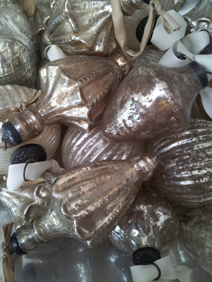 vintage glass christmas decorations for sale