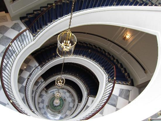 The staircase within the Excelsior Hotel Ernst, Cologne