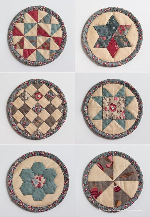 """Coasters - Patchwork """"pancakes» / Quilted «pancakes» - evening meetings"""