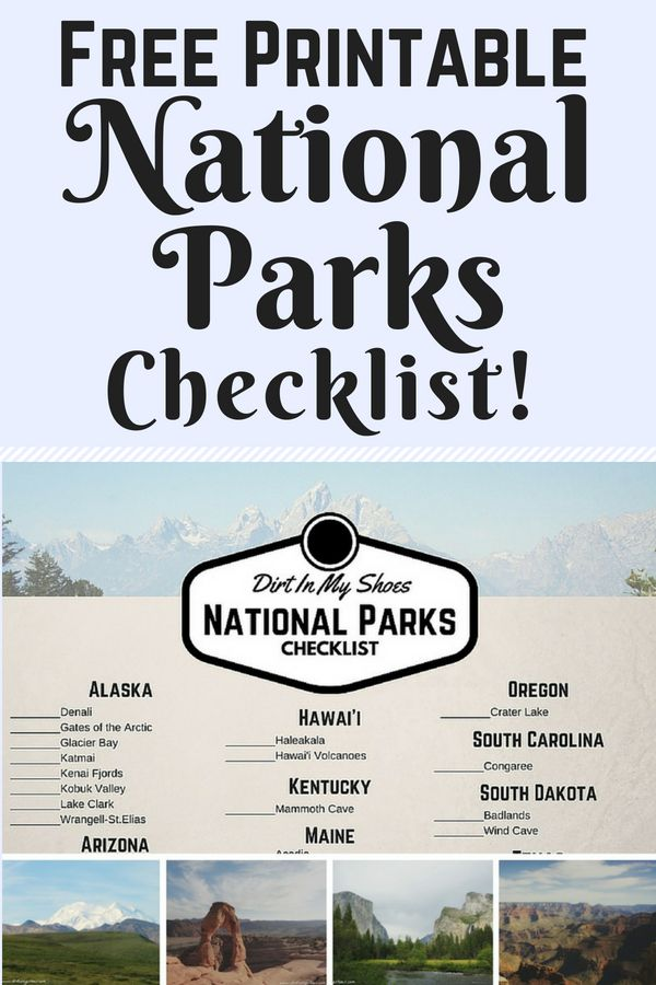 photo relating to Printable National Park Checklist known as Absolutely free Countrywide Parks Record! Filth Inside My Sneakers Countrywide