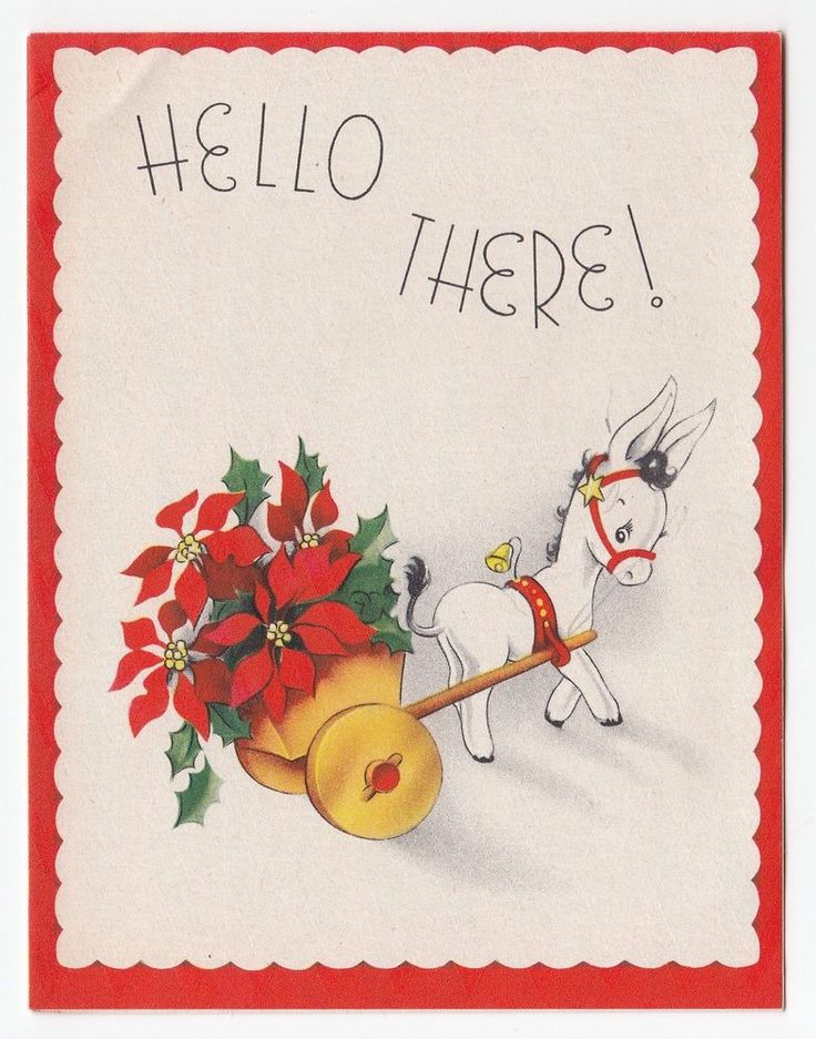 99 best vintage donkey postcards images – Donkey Birthday Card
