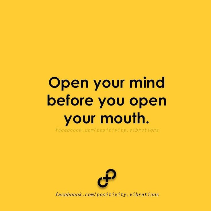 Open your mind...