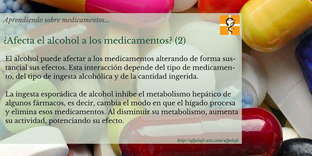UFPE Hospital La Fe: Aprendiendo sobre medicamentos... ¿Afecta el alcohol a los medicamentos? (2)