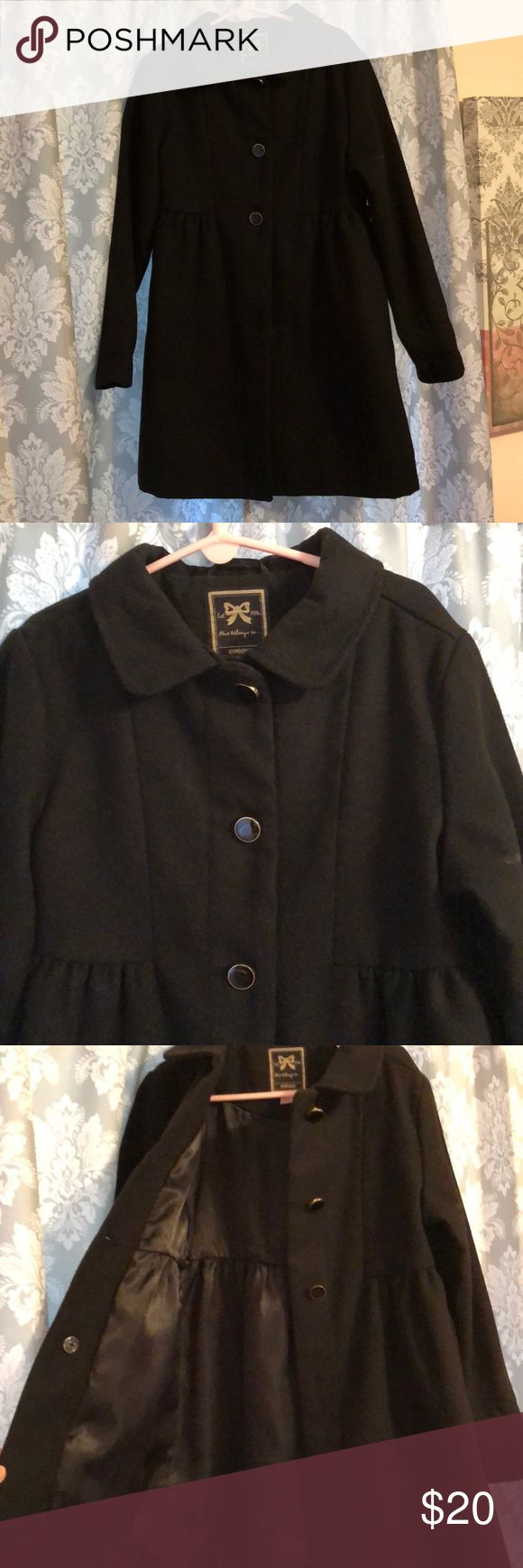 Kids Black Peacoat Black girls peacoat. Size 7/8. Hardly worn. Silk lining, 3 buttons with small collar. Still in great condition! Gymboree Jackets & Coats Pea Coats