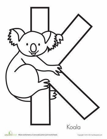 Worksheets: K is for Koala