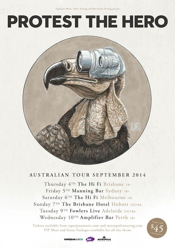 Protest the hero Australian tour poster 2014