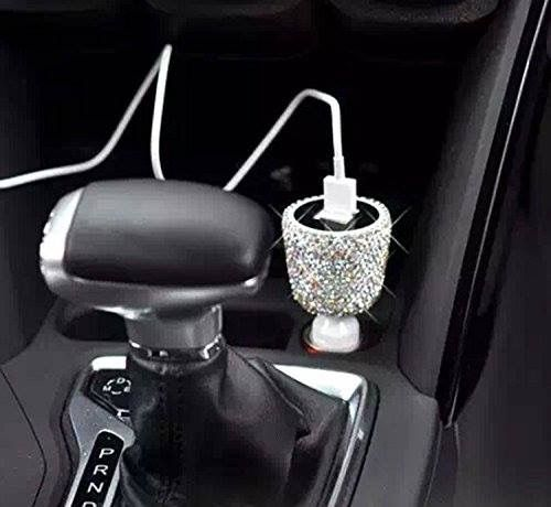 Crystal Handmade Dual USB Quality Car charger Designed for Apple and Android Devices Shop the bling collection here: http://amzn.to/2lj9uVW