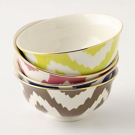 Anthropology Ikat mini bowls...I am going to buy one in every color.