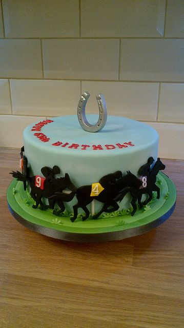Horse Racing Cake by peggypal, via Flickr