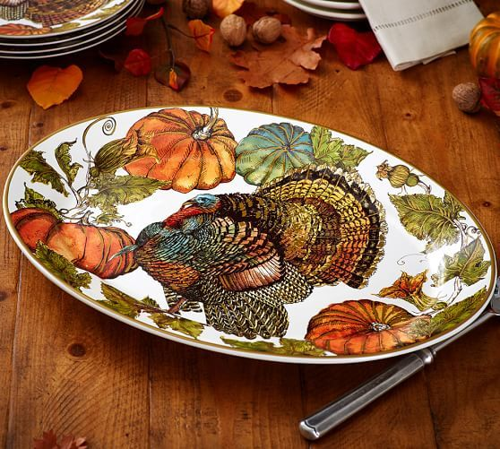 Exquisite details make the Heritage Turkey Dinnerware a harvest season favorite. Pair the dinner plates with other pieces in the collection to create a ... & 21 best Dinnerware: Ceramic Thanksgiving images on Pinterest ...
