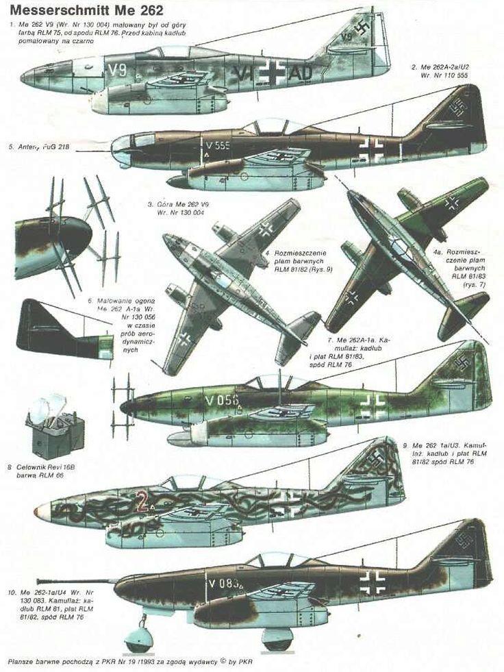 """Messerschmitt Me-262 Schwalbe """"Swallow"""" Variants"""