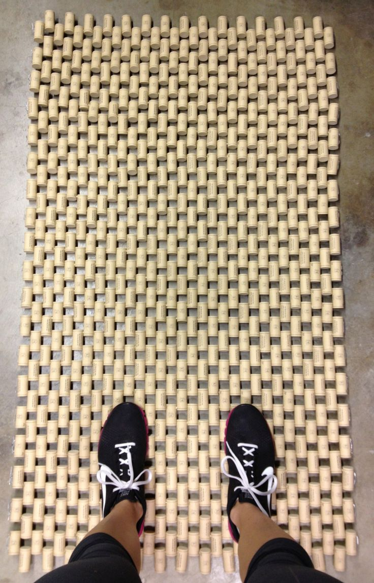 My large wine cork door mat. It took me about 8 hours to make - created holes and weaved wire throughout.