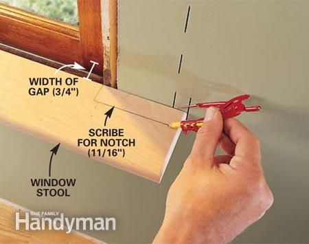 how to cut odd angles for baseboards