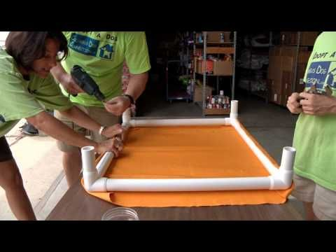 DIY – How to make NO-SEW elevated dog beds out of PVC pipes!- Aussiedoodle and Labradoodle Puppies | Best Labradoodle Breeders in Washington State, Portland, Oregon