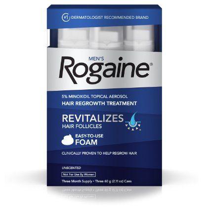 Males's Rogaine Foam, Three Month Provide [Beauty]