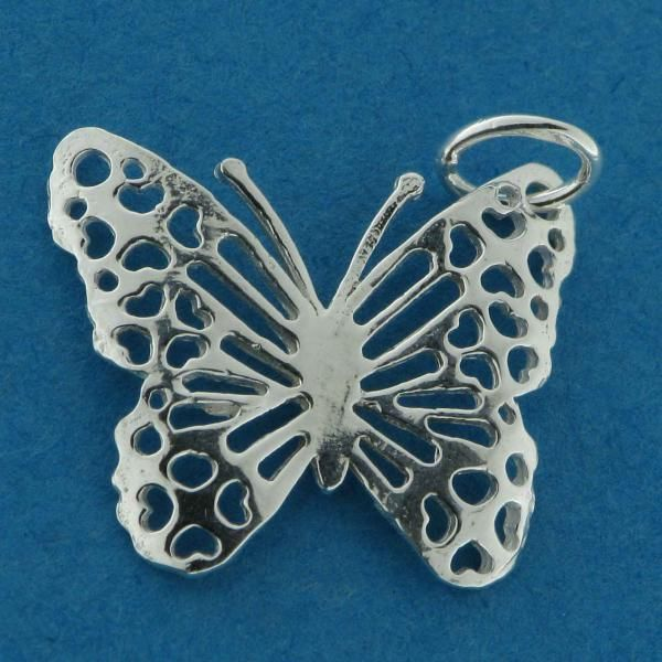 Sterling Silver Filigree Butterfly Charm
