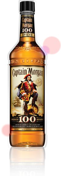 100 Proof: Legend has it, the pirates of old stored their high proof rum in charred oak casks in order to give it a smooth mellow taste.    Today this tradition lives on in Captain Morgan ® Black Cask™ 100 Proof Spiced Rum, a secret blend of Caribbean rums and select spices which brings out the intensity of rum in all its original full-flavored glory.    A firm favourite with The Captain, it's specially crafted to taste great with cola or as a shot.