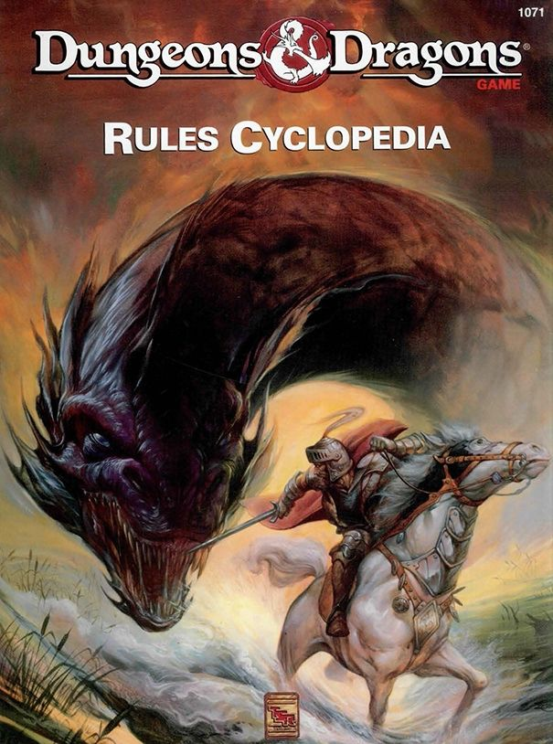 DnD Rules Cyclopedia (Basic). This is, in our opinion, one of the best roleplaying books ever released by TSR. It is a complete (and well edited) collection of all the rules for Basic DnD It has been really hard to find copies of this, so we were excited to find out that WotC have finally released it as a PDF.