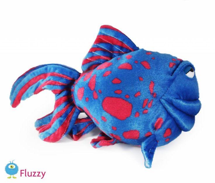 Grappige vis. Blauw met roze. 32 cm, € 13,95 http://www.fluzzy.nl/grappige-vis.html