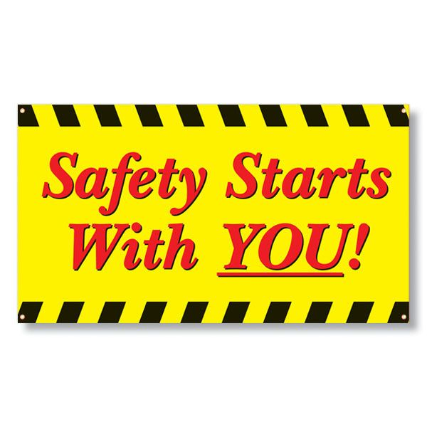 Raise workplace safety awareness by providing easy-to-read safety banners with memorable safety messages for your employees. Description from gneil.hrdirect.com. I searched for this on bing.com/images