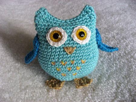 Crochet little owl Rózi