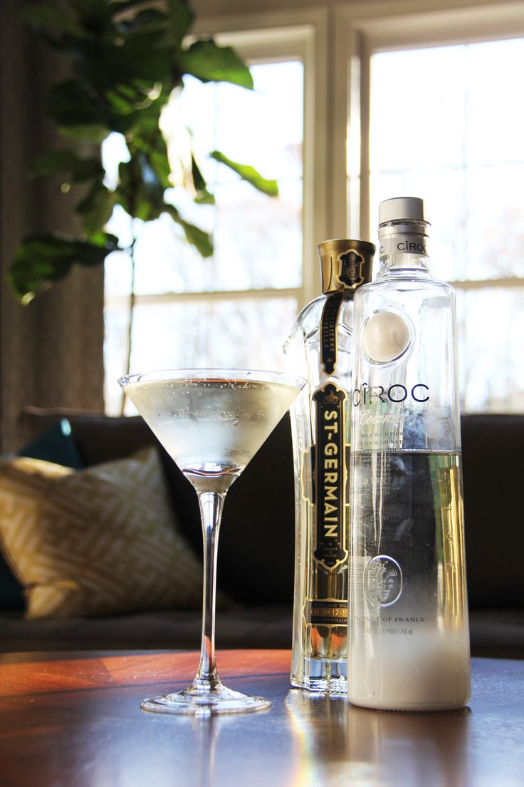 Our most Pinned Cocktail! The Coco Chanel Martini: Coconut Ciroc Vodka & St Germain shaken together to make the perfect Femme Martini!