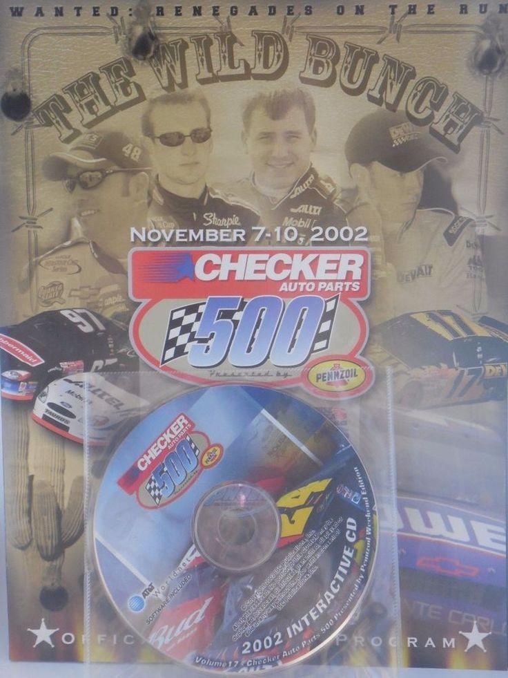 November 2002 Official Souvenir Program NASCAR Phoenix 500 with Cd