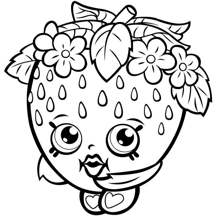 Shopkins Season 1 Strawberry Kiss Coloring Page   Shopkins ...