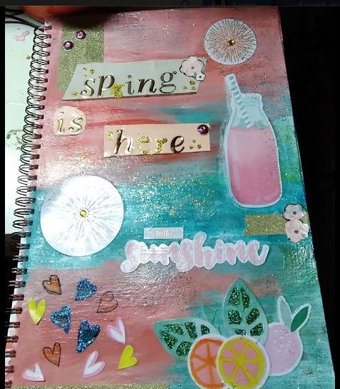 A page from my art journal. #artjournal #spring #inspiration #Sophiecadesigns