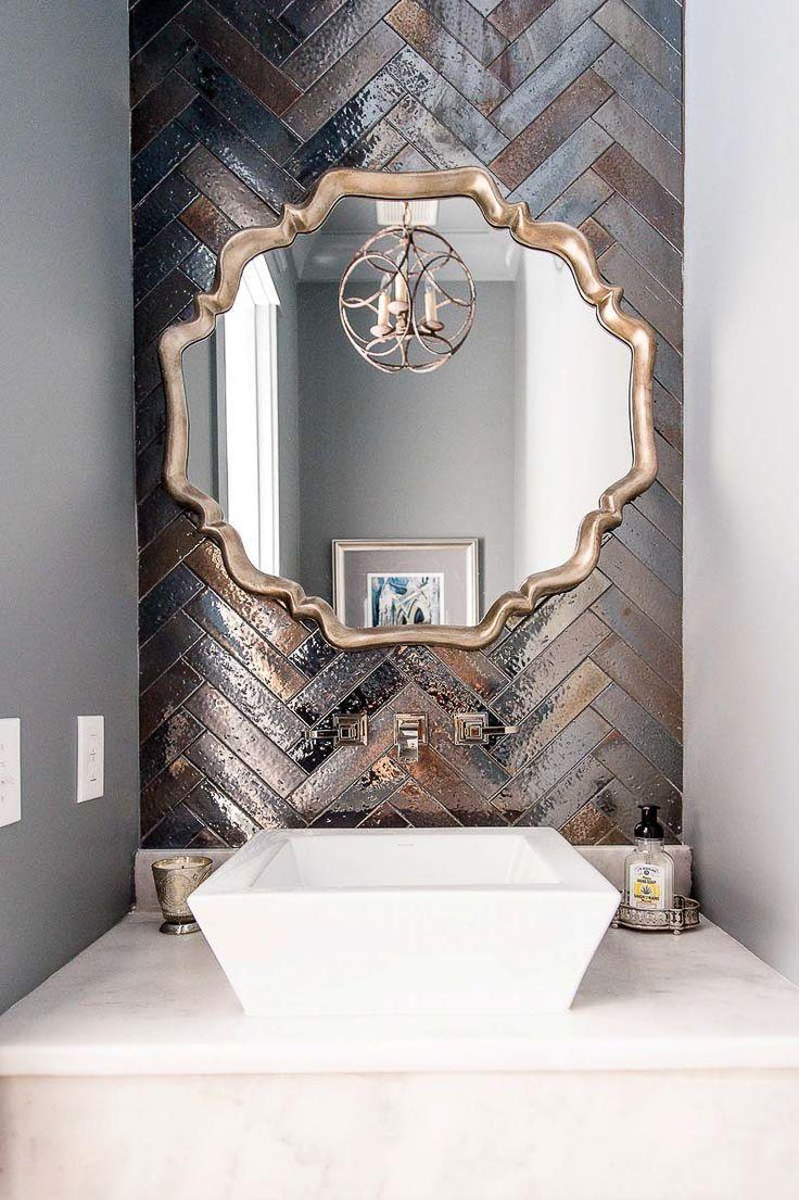 Artistic Tile I Backsplash: 'Kyoto' ceramic tile in 'Steel' metallic glaze