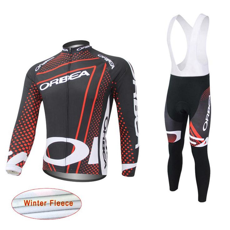 <Click Image to Buy> ORBEA Team 2017 Winter Thermal Fleece Quick Dry Cycling Jersey Set Outdoor Sport Coat Clothing Bib Suit ~  #Cycling